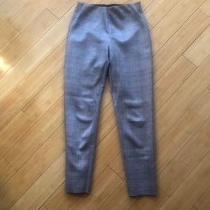 Zara Taupe Plaid Pants Small